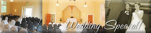 See our Special Wedding Package
